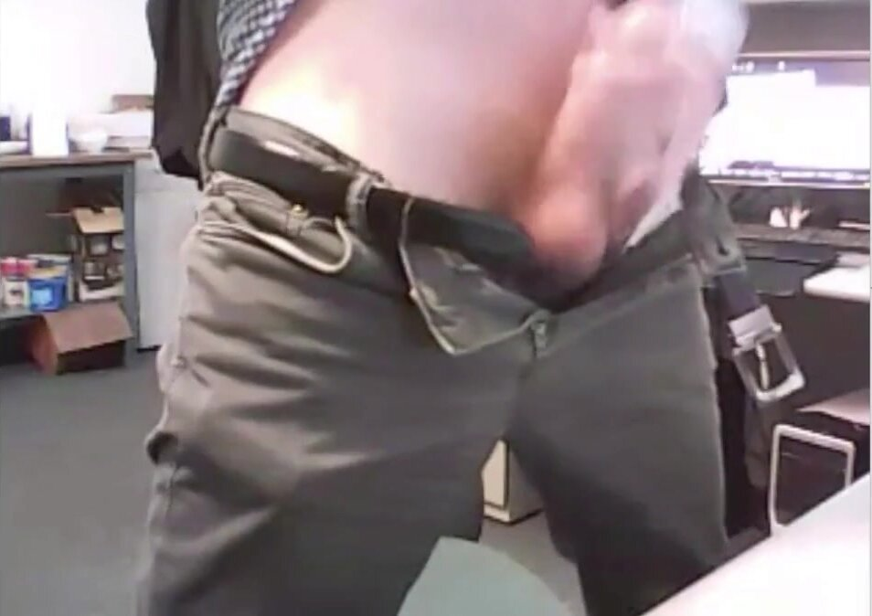 dad strokes cock at the office 3 3